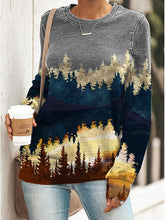 Load image into Gallery viewer, Plant print loose casual sweatshirt
