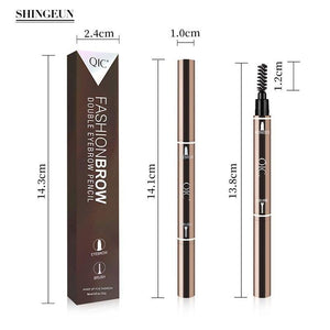 Eyebrow Pencil Double-Head, Waterproof Smudge-proof Brow Pencil with Brow Brush, 5 Colors Automatic Eye Brow Makeup by Nissi