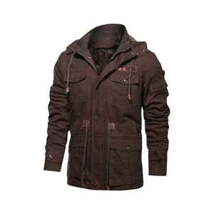 Men's Casual Cargo Overcoats Winter Warm Jackets