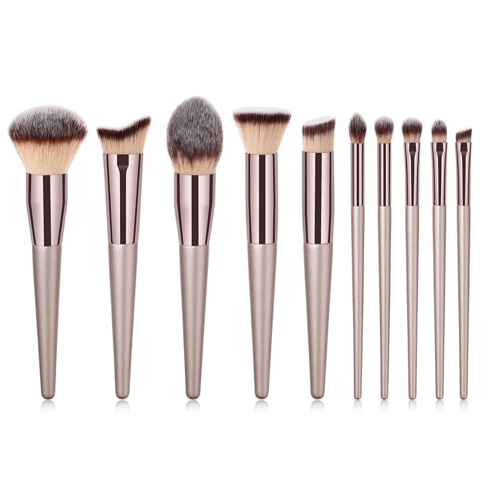 10pcs Professional Premium Synthetic Makeup Brush Set