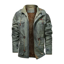 Load image into Gallery viewer, Men's Casual Cargo Overcoats Winter Warm Jackets