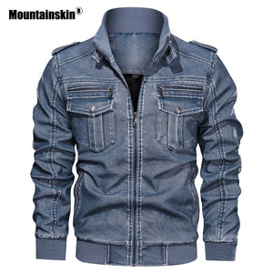 Winter Autumn Men's Motorcycle Jacket Windproof Outwear L~6XL