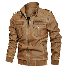 Load image into Gallery viewer, Winter Autumn Men's Motorcycle Jacket Windproof Outwear L~6XL