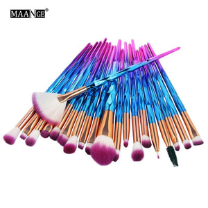 20pcs/set Make Up Brush Set Professional The Most Comprehensive Professional Makeup Tools Portable Cosmetics Accessories