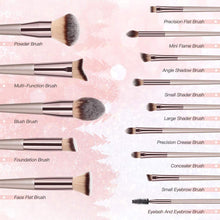 Load image into Gallery viewer, 10pcs Professional Premium Synthetic Makeup Brush Set