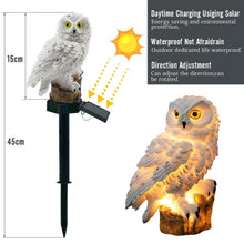 Load image into Gallery viewer, Solar Powered Guarding Owl LED Garden Lights