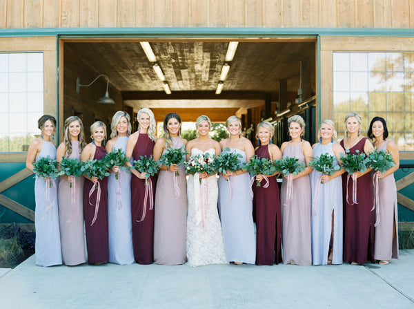 natalie deayala bridesmaid dresses mixed colors