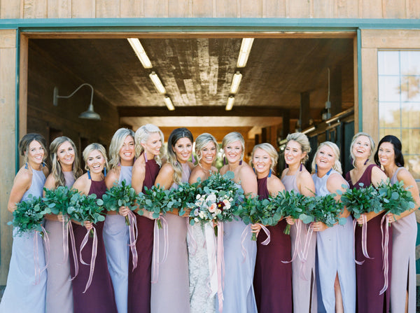 mixed color bridesmaids natalie deayala