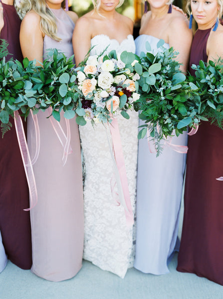 shades of purple bridesmaids natalie deayala