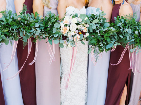 mixed shades bridesmaids natalie deayala texas wedding