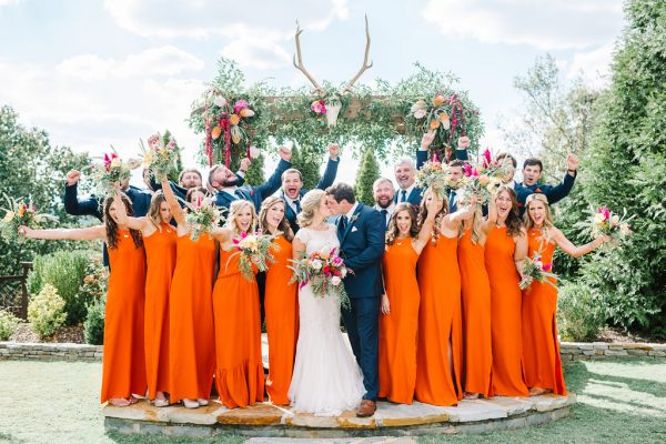 bridesmaid dresses in orange natalie deayala