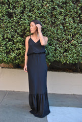 The V Neck Flounce Gown