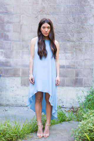 The High Neck Hi-Lo Dress