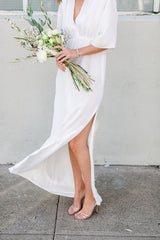 The Flutter Sleeve Gown