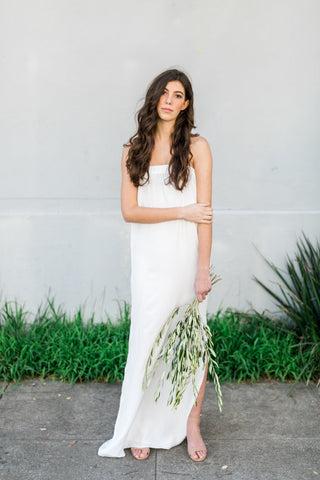 The Strapless Column Gown