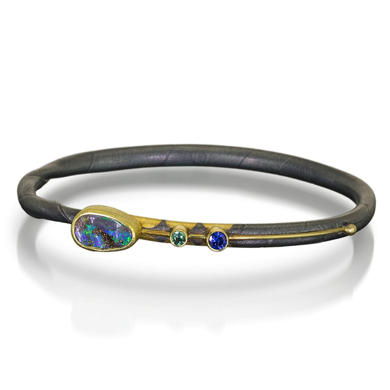 One of a kind Dark Opal Twig Bracelet