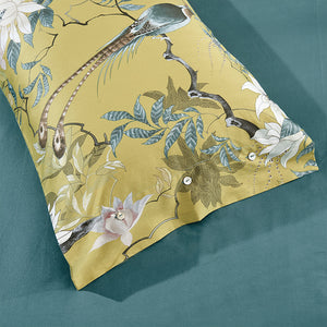 Egyptian Silky Cotton Chinoiserie Style Duvet Cover Set - Xenqhome