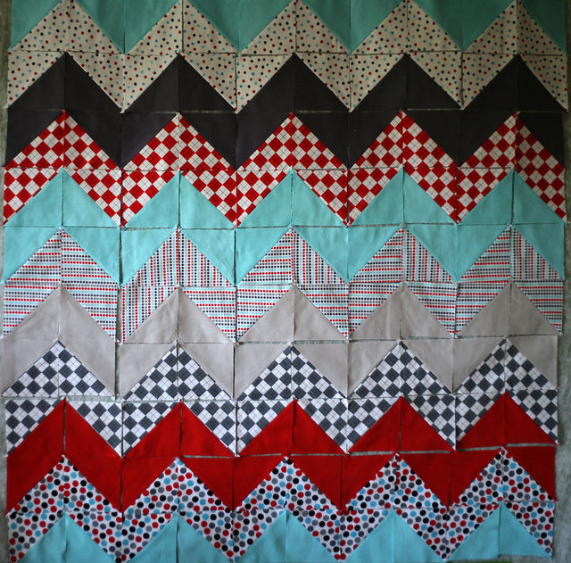 Zig-Zag Baby Quilt Progress