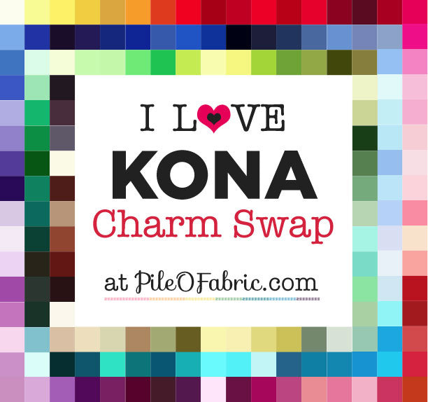 I Love KONA ~ Charm Swap at Pile O' Fabric