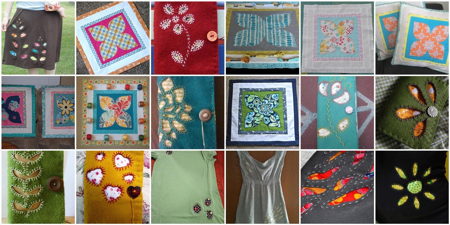 Some Beautiful Projects from Handstitched Class at Stitched in Color