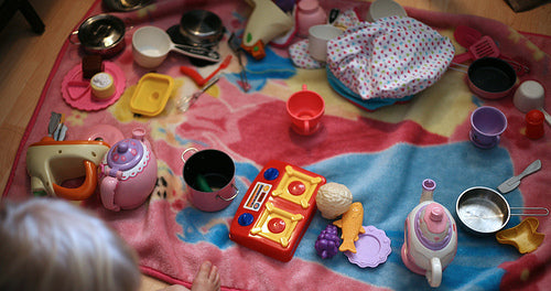 Princess Picnic in Moms Sewing Room