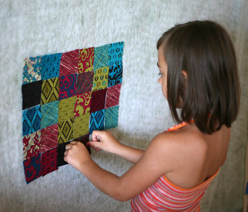 My niece is a little quilt designer!