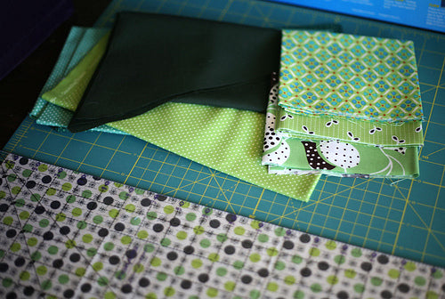 Pulling Fabric for a Xylophone Block from Modern Patchwork