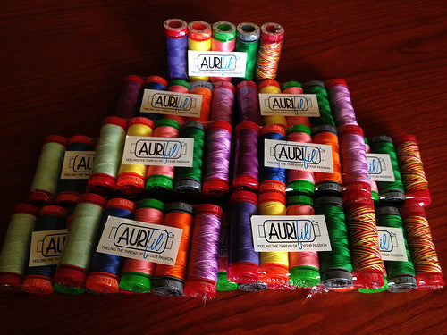 Look at the goodies I got in the mail! Want to guess what this is for? You shall see :) @aurifil #aurifil
