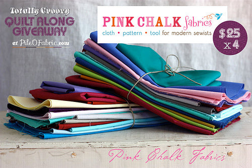 Enter to Win one of 4 - $25 GC to Pink Chalk Fabrics