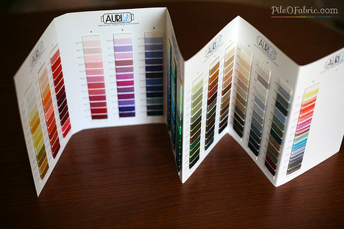 Lana Wool Thread Color Card