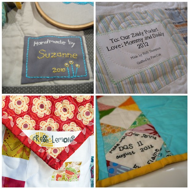 Examples of Quilt Tags