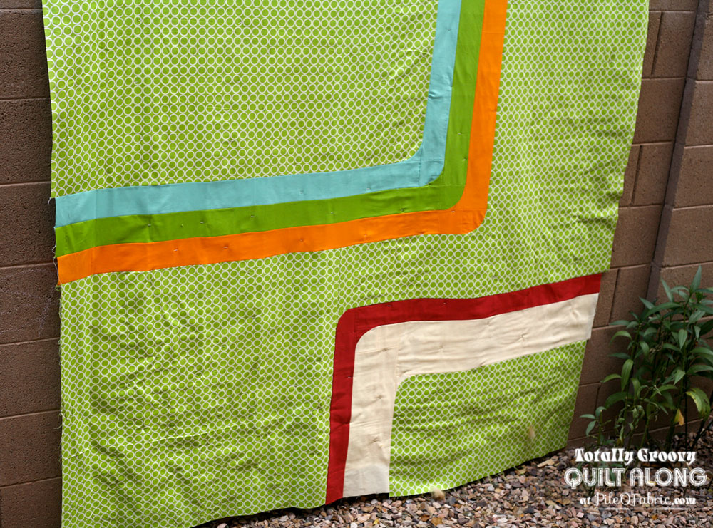 Back of my Groove Quilt