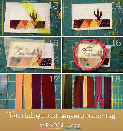 Tutorial: Quilted Lanyard Name Tag