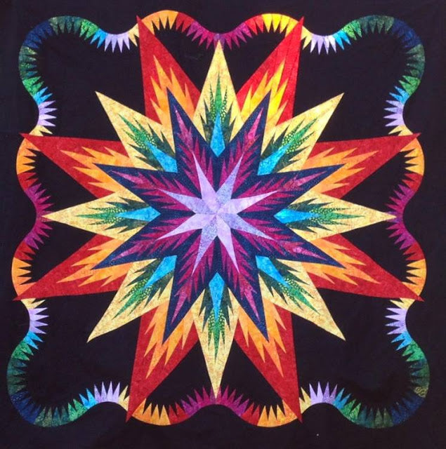 Feathered Star Quilt by Jackie Kunkel