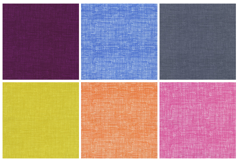 Timeless Treasures Basic Sketch prints available in Plum, Blue, Smoke, Citron, Orange and Candy!