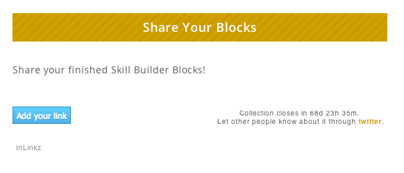 Look for this section on each Block Lesson post to link up your blocks.