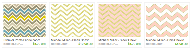 400+ Zig Zag Chevrons to choose from!