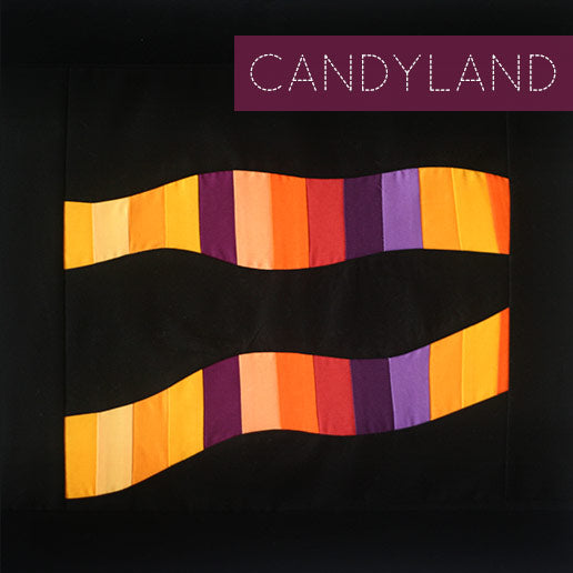 The Candyland Block was pieced with wavy curves. The really awesome thing about this block is will yield two blocks!