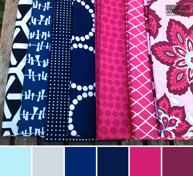 This bundle includes (left to right)  Geo Centric Home Dec, Glimma Kita Blueberry, Bloom Modern, Pearl Bracelets, Full Moon Lagoon, Summersville Spring, Ornate Floral.