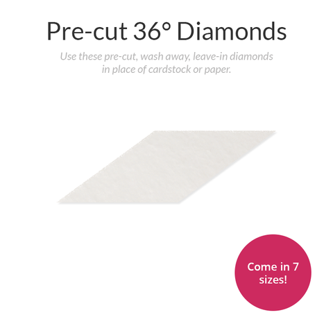 Pre-cut 36-Degree Diamond Stabilizer