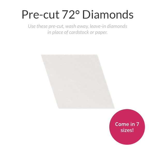 Pre-cut 72-Degree Diamond Stabilizer