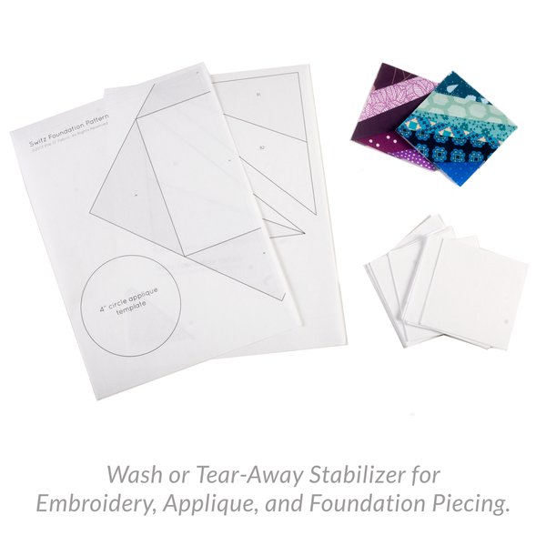 Wash or Tear-Away Stabilizer