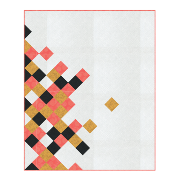 Modern Quilt Pattern in Print Fabrics