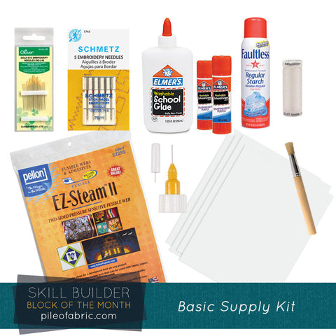 Notion Supply Kit for For the Love of Sewing Block of the Month Quilt