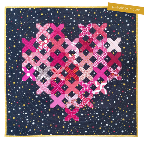 Cross Stitch Heart Quilt