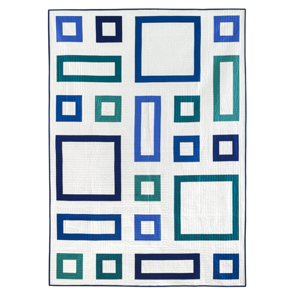 Modern Quilt Pattern in Solid Fabrics