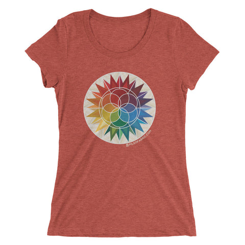 Technicolor Galaxy Ladies' Short Sleeve T-shirt