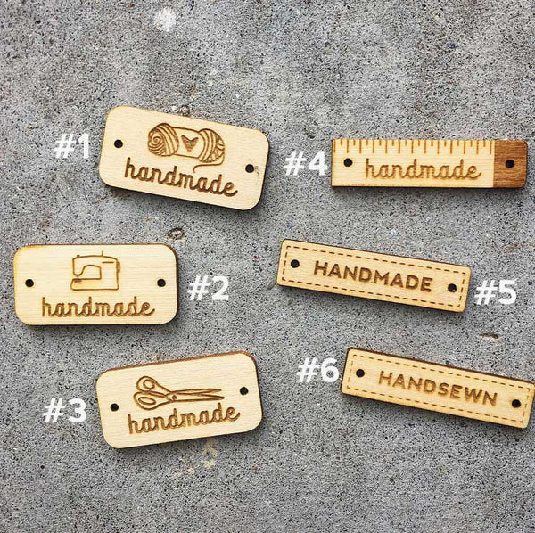 Wooden Tags in Natural (2 pack)