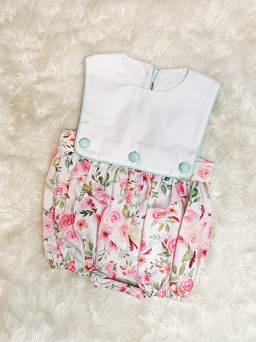 Girls Pink/Mint Floral Bubble