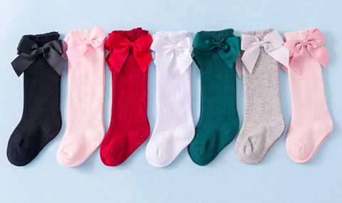 Girls Bow Socks